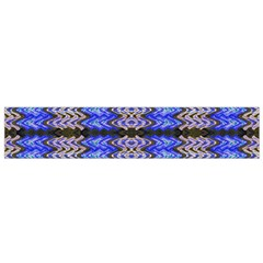Pattern Tile Blue White Green Flano Scarf (small)  by BrightVibesDesign