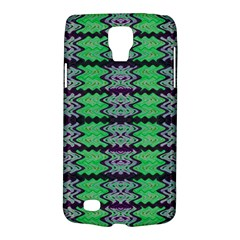 Pattern Tile Green Purple Galaxy S4 Active by BrightVibesDesign