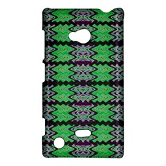 Pattern Tile Green Purple Nokia Lumia 720 by BrightVibesDesign