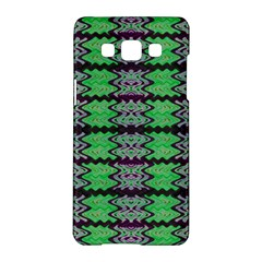 Pattern Tile Green Purple Samsung Galaxy A5 Hardshell Case  by BrightVibesDesign