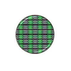 Pattern Tile Green Purple Hat Clip Ball Marker by BrightVibesDesign