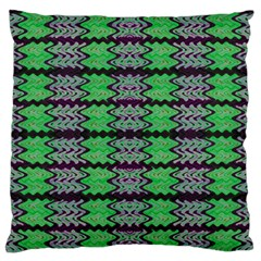 Pattern Tile Green Purple Standard Flano Cushion Case (one Side) by BrightVibesDesign