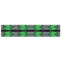 Pattern Tile Green Purple Flano Scarf (small)  by BrightVibesDesign