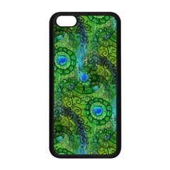 Emerald Boho Abstract Apple Iphone 5c Seamless Case (black) by KirstenStar