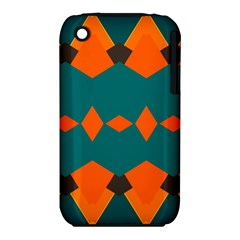 Rhombus and other shapes                                                                      			Apple iPhone 3G/3GS Hardshell Case (PC+Silicone) by LalyLauraFLM