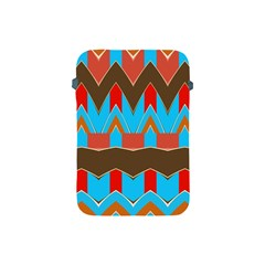 Blue Brown Chevrons                                                                       			apple Ipad Mini Protective Soft Case by LalyLauraFLM