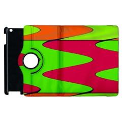 Wavy Design                                                                        apple Ipad 2 Flip 360 Case by LalyLauraFLM