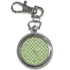 Crisscross Pastel Green Beige Key Chain Watches by BrightVibesDesign