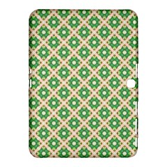 Crisscross Pastel Green Beige Samsung Galaxy Tab 4 (10 1 ) Hardshell Case  by BrightVibesDesign