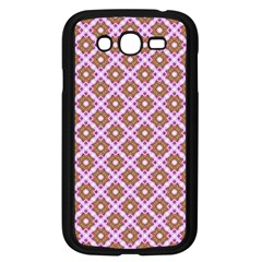 Crisscross Pastel Pink Yellow Samsung Galaxy Grand Duos I9082 Case (black) by BrightVibesDesign
