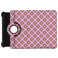 Crisscross Pastel Pink Yellow Kindle Fire Hd Flip 360 Case by BrightVibesDesign