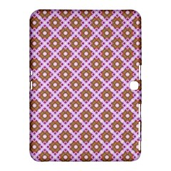 Crisscross Pastel Pink Yellow Samsung Galaxy Tab 4 (10 1 ) Hardshell Case  by BrightVibesDesign