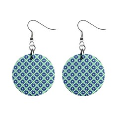 Crisscross Pastel Turquoise Blue Mini Button Earrings by BrightVibesDesign