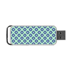 Crisscross Pastel Turquoise Blue Portable Usb Flash (one Side) by BrightVibesDesign