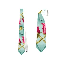 Love Motif Pattern Print Neckties (two Side)  by dflcprints