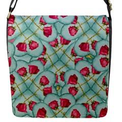 Love Motif Pattern Print Flap Messenger Bag (s) by dflcprints