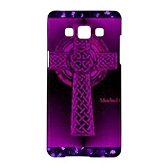 Purple Celtic Cross Samsung Galaxy A5 Hardshell Case  by morbidcouture