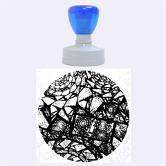 Fractal Stained Glass Rubber Round Stamps (large) by WolfepawFractals