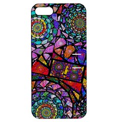 Fractal Stained Glass Apple Iphone 5 Hardshell Case With Stand by WolfepawFractals