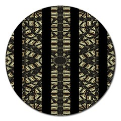 Vertical Stripes Tribal Print Magnet 5  (round) by dflcprints