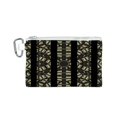 Vertical Stripes Tribal Print Canvas Cosmetic Bag (s) by dflcprints