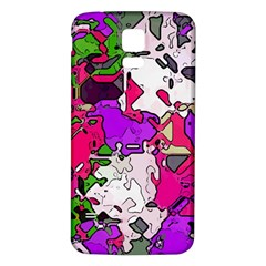 Ink Shapes                                                                         			samsung Galaxy S5 Back Case (white) by LalyLauraFLM