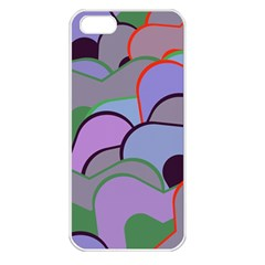 Wavy Shapes Pieces                                                                          			apple Iphone 5 Seamless Case (white) by LalyLauraFLM