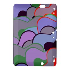 Wavy shapes pieces                                                                          Kindle Fire HDX 8.9  Hardshell Case by LalyLauraFLM