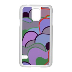 Wavy Shapes Pieces                                                                          			samsung Galaxy S5 Case (white) by LalyLauraFLM