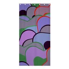 Wavy Shapes Pieces                                                                          shower Curtain 36  X 72  by LalyLauraFLM