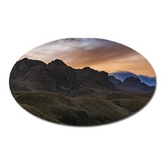 Sunset Scane At Cajas National Park In Cuenca Ecuador Oval Magnet by dflcprints