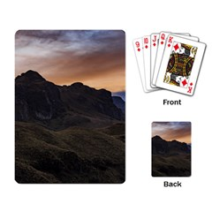 Sunset Scane At Cajas National Park In Cuenca Ecuador Playing Card by dflcprints