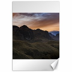Sunset Scane At Cajas National Park In Cuenca Ecuador Canvas 20  X 30   by dflcprints