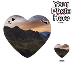 Sunset Scane At Cajas National Park In Cuenca Ecuador Playing Cards 54 (heart)  by dflcprints