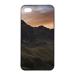 Sunset Scane At Cajas National Park In Cuenca Ecuador Apple Iphone 4/4s Seamless Case (black) by dflcprints