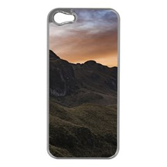 Sunset Scane At Cajas National Park In Cuenca Ecuador Apple Iphone 5 Case (silver) by dflcprints