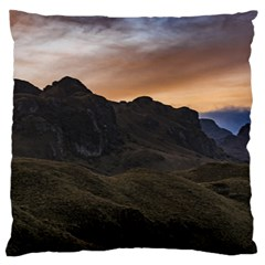 Sunset Scane At Cajas National Park In Cuenca Ecuador Standard Flano Cushion Case (one Side) by dflcprints