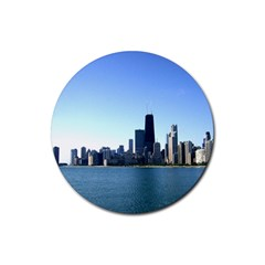 Chicago Skyline Drink Coasters 4 Pack (round) by canvasngiftshop