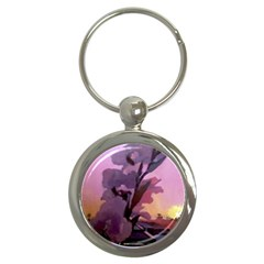 Pinkfloral Key Chain (round) by lynngrayson