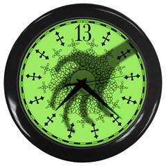 Haunted Mansion Clock Wall Clocks (Black) by CorsairsDesign