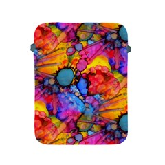 Rainbow Bursts Alcohol Inks Apple iPad 2/3/4 Protective Soft Cases by KirstenStar