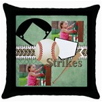 sport - Throw Pillow Case (Black)
