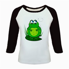 Green Frog Kids Baseball Jerseys by Valentinaart