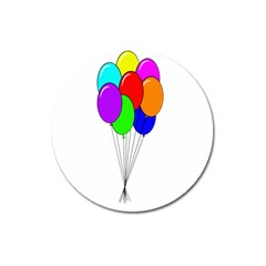 Colorful Balloons Magnet 3  (Round) by Valentinaart