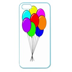 Colorful Balloons Apple Seamless Iphone 5 Case (color) by Valentinaart