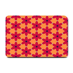 Red Flowers Pattern                                                                            small Doormat by LalyLauraFLM