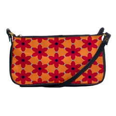 Red Flowers Pattern                                                                            			shoulder Clutch Bag by LalyLauraFLM