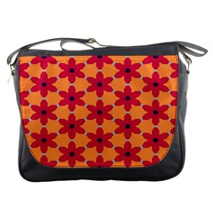 Red Flowers Pattern                                                                            messenger Bag by LalyLauraFLM