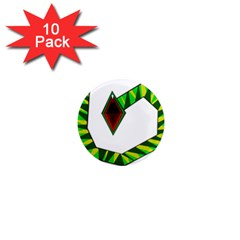 Decorative Snake 1  Mini Magnet (10 Pack)  by Valentinaart