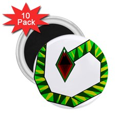 Decorative Snake 2 25  Magnets (10 Pack)  by Valentinaart